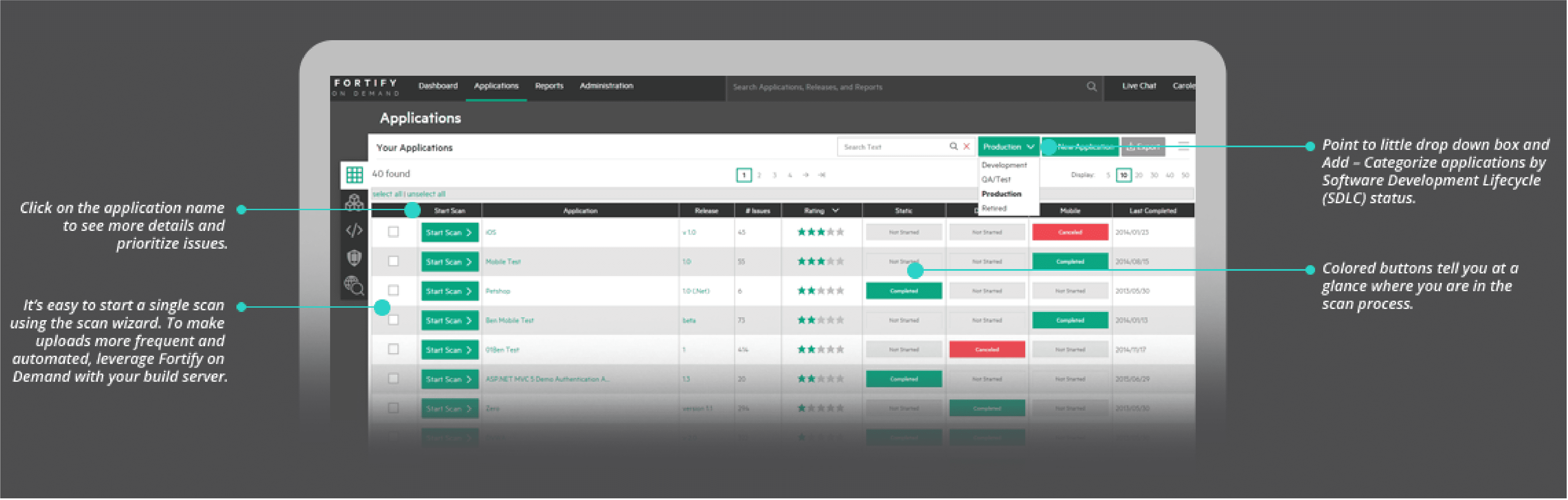 Get a working view of all your apps, filtered and categorized based on your criteria.