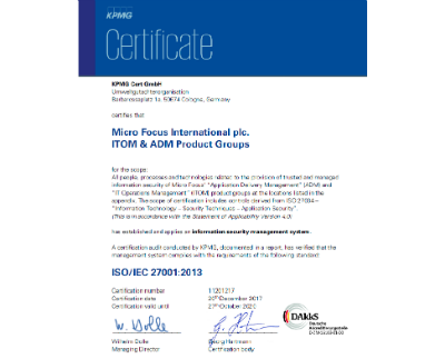 We are ISO 27034-1 certified