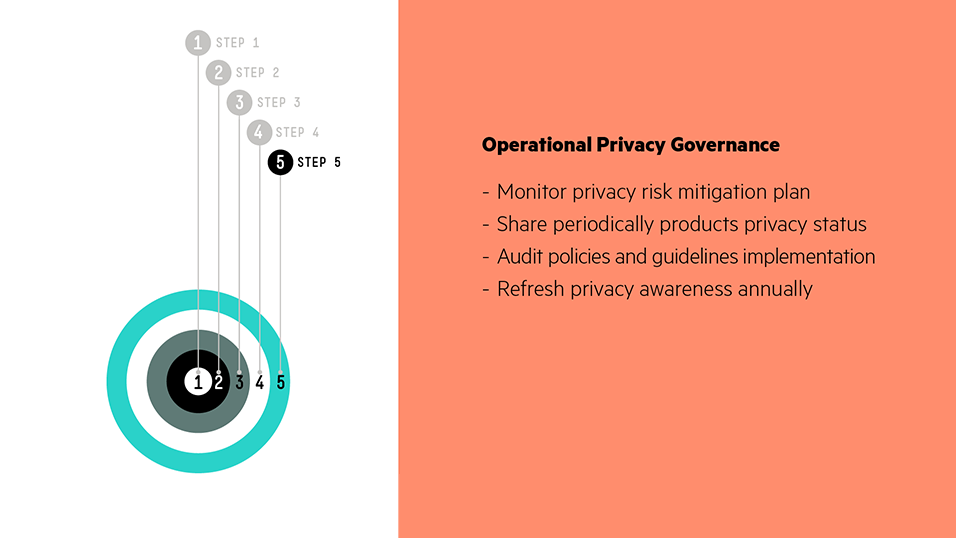 Step 5 – Operational Privacy Governance: Privacy controls during product operation