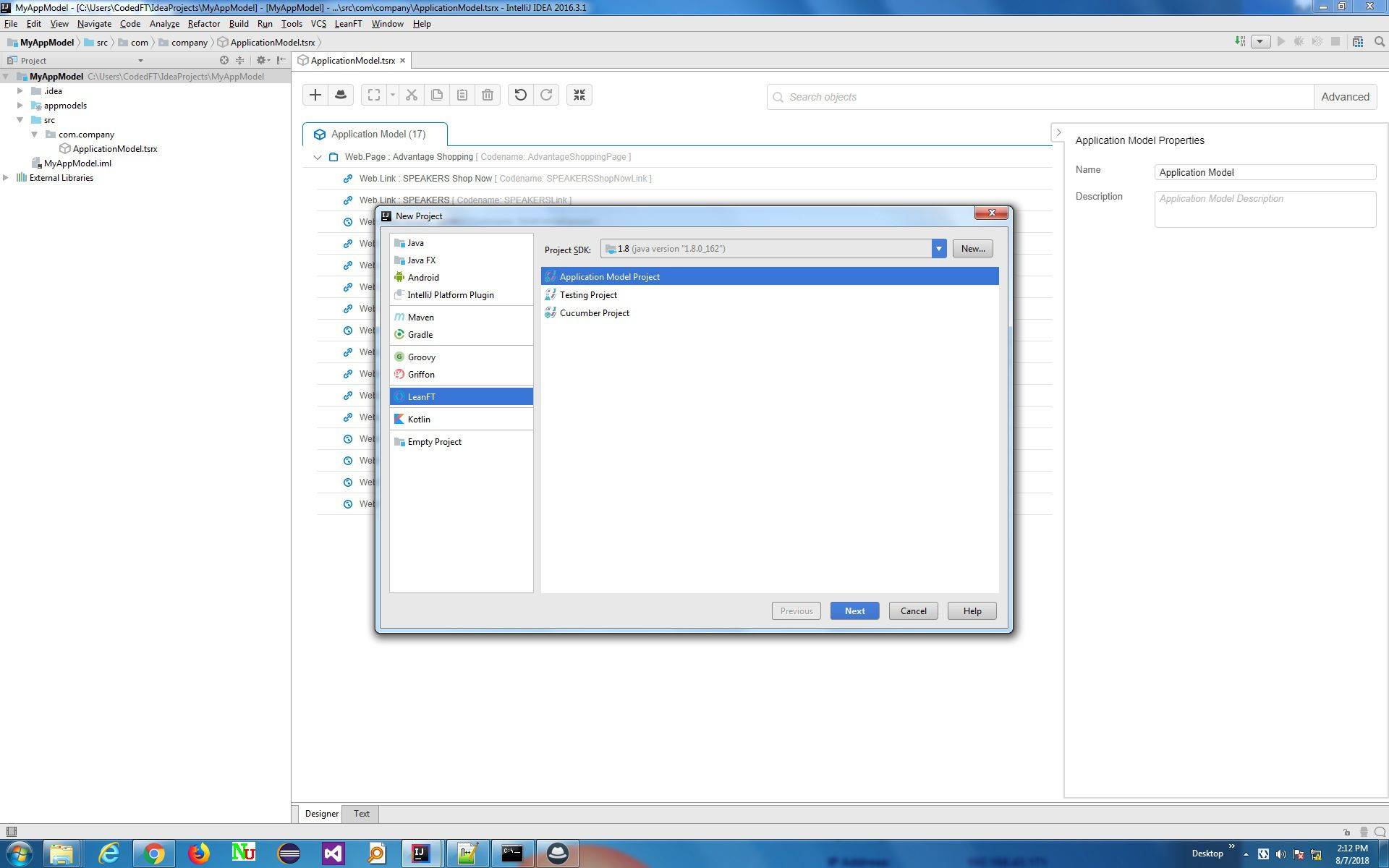 Micro Focus screenshot Lean Functional Testing