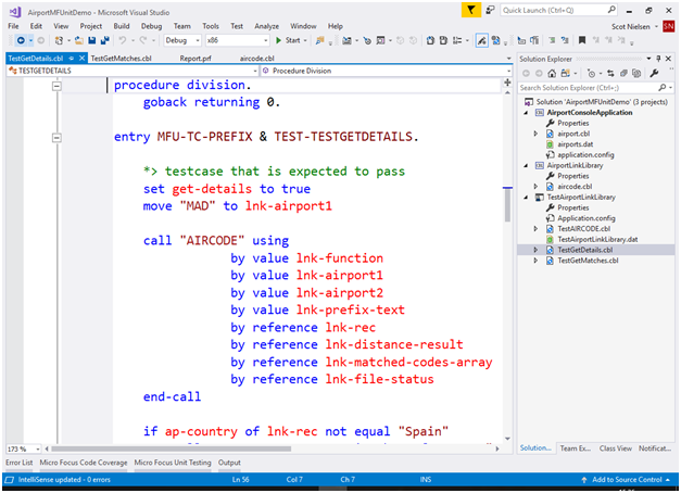 Visual COBOL for Visual Studio