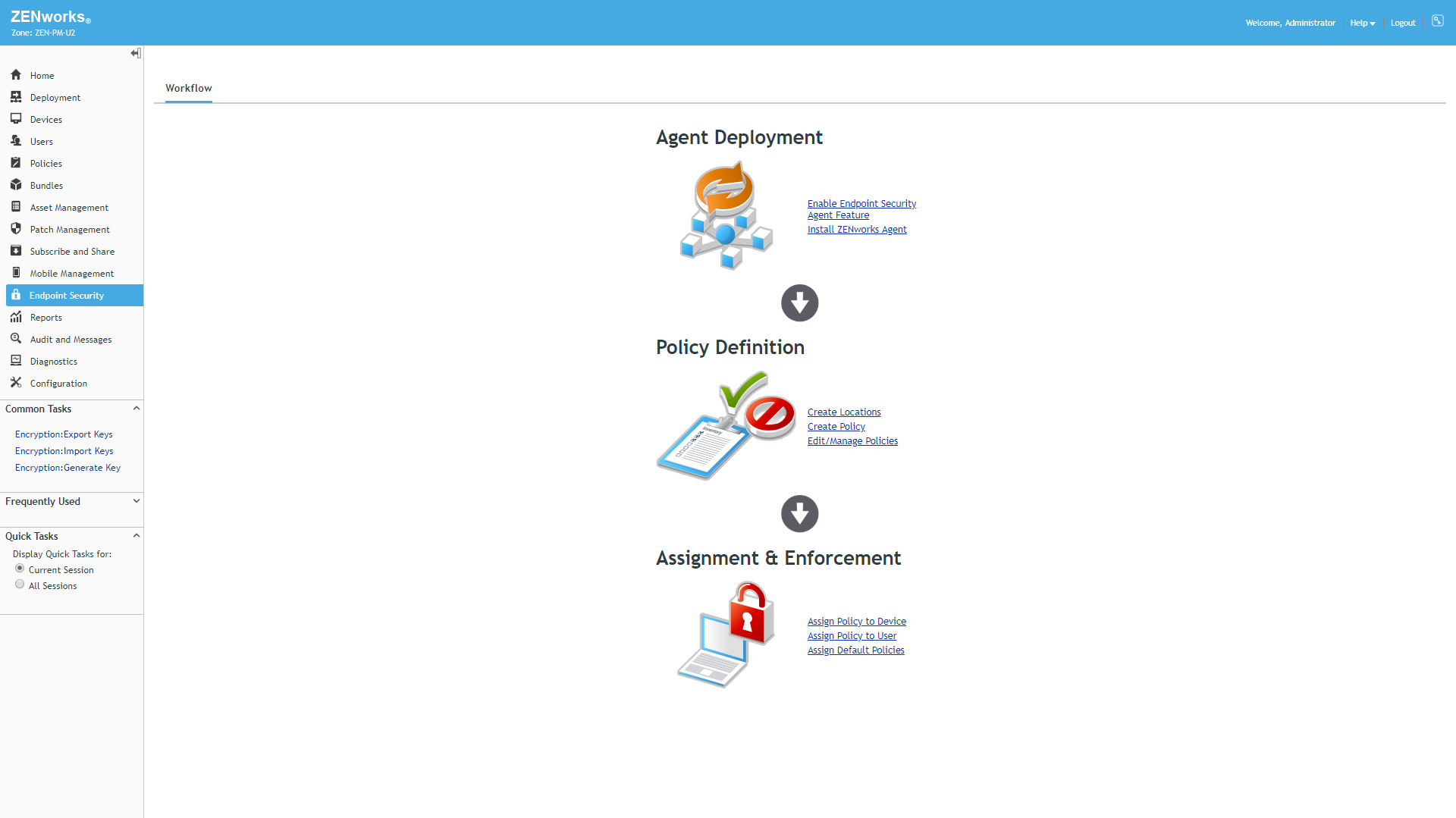ZENworks Endpoint Security Management screenshot